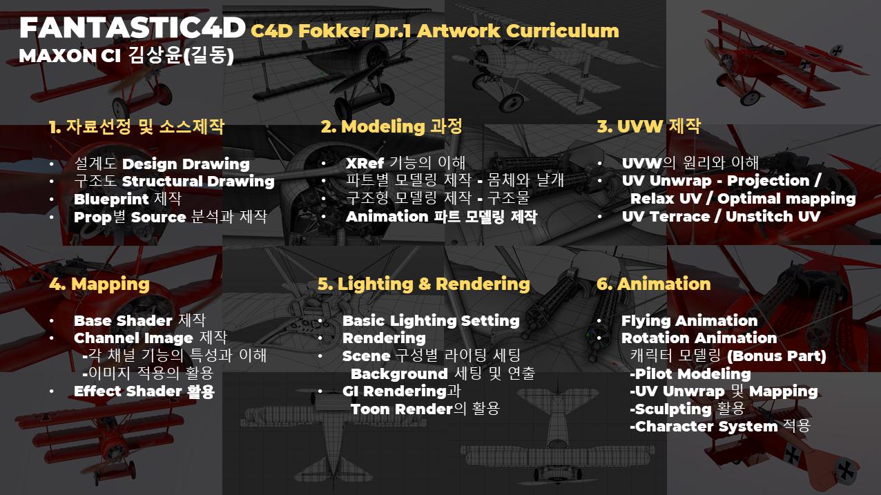 커리큘럼_C4D Fokker Dr.1 아트웍_길동_판타스틱4D_최종본.png