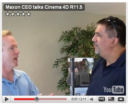 maxon ceo talks cinema 4d r11 5. Black Bedroom Furniture Sets. Home Design Ideas
